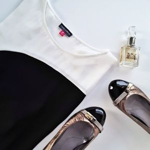 Vince Camuto Satin Color Block Sleeveless Blouse